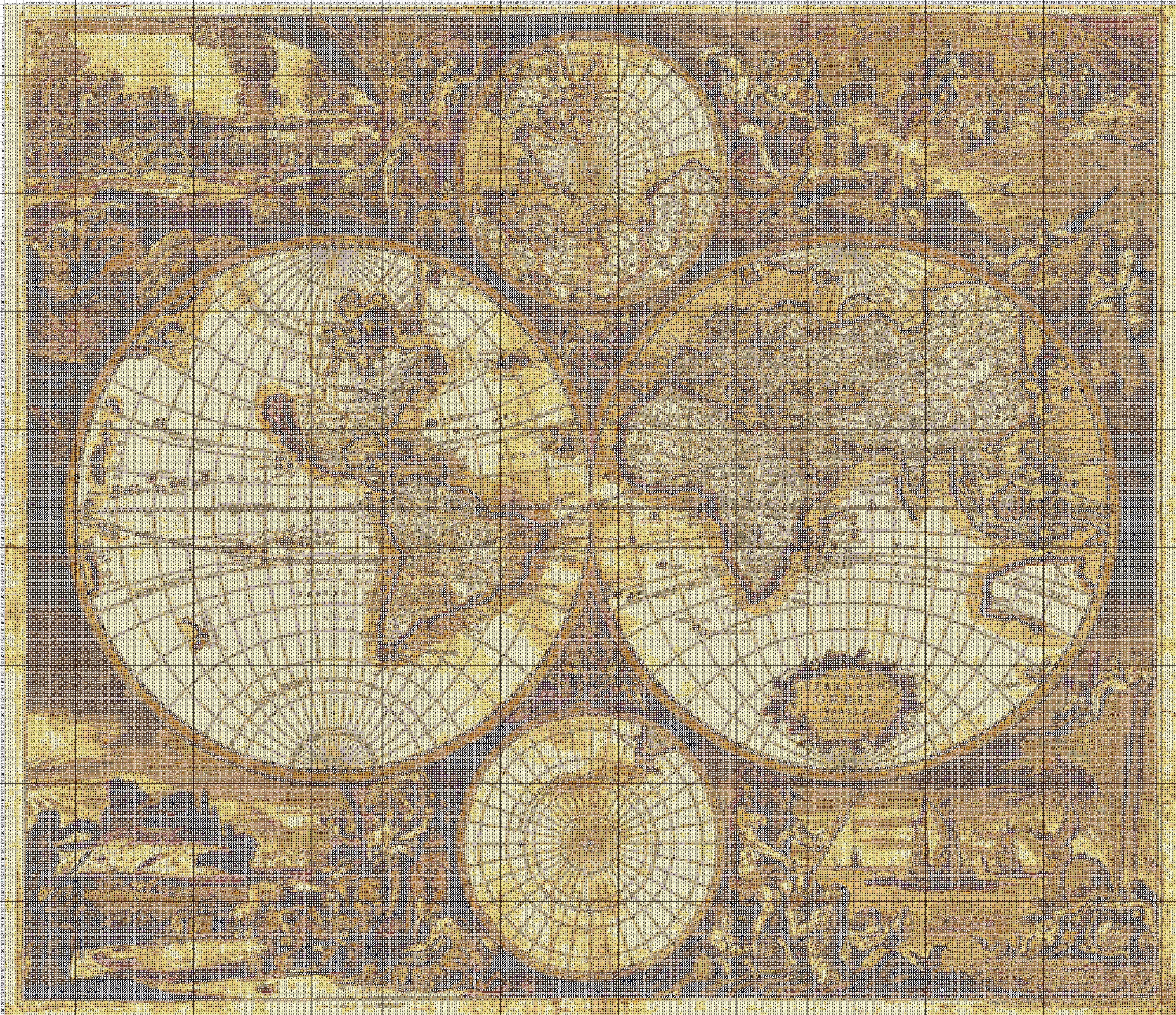Старые карты для вышивки