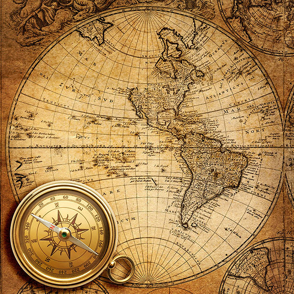 Схема для вышивания крестиком «Карта мира 2 »