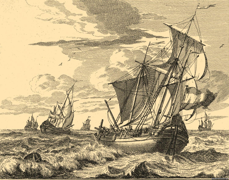 Схема для вышивки крестом «Корабль 7 » 80 Х 66