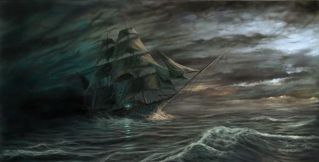 Схема для вышивки крестом «Корабль 5 » 80 Х 41