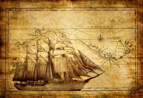 Схема для вышивки крестом «Корабль 9 » 70 Х 48