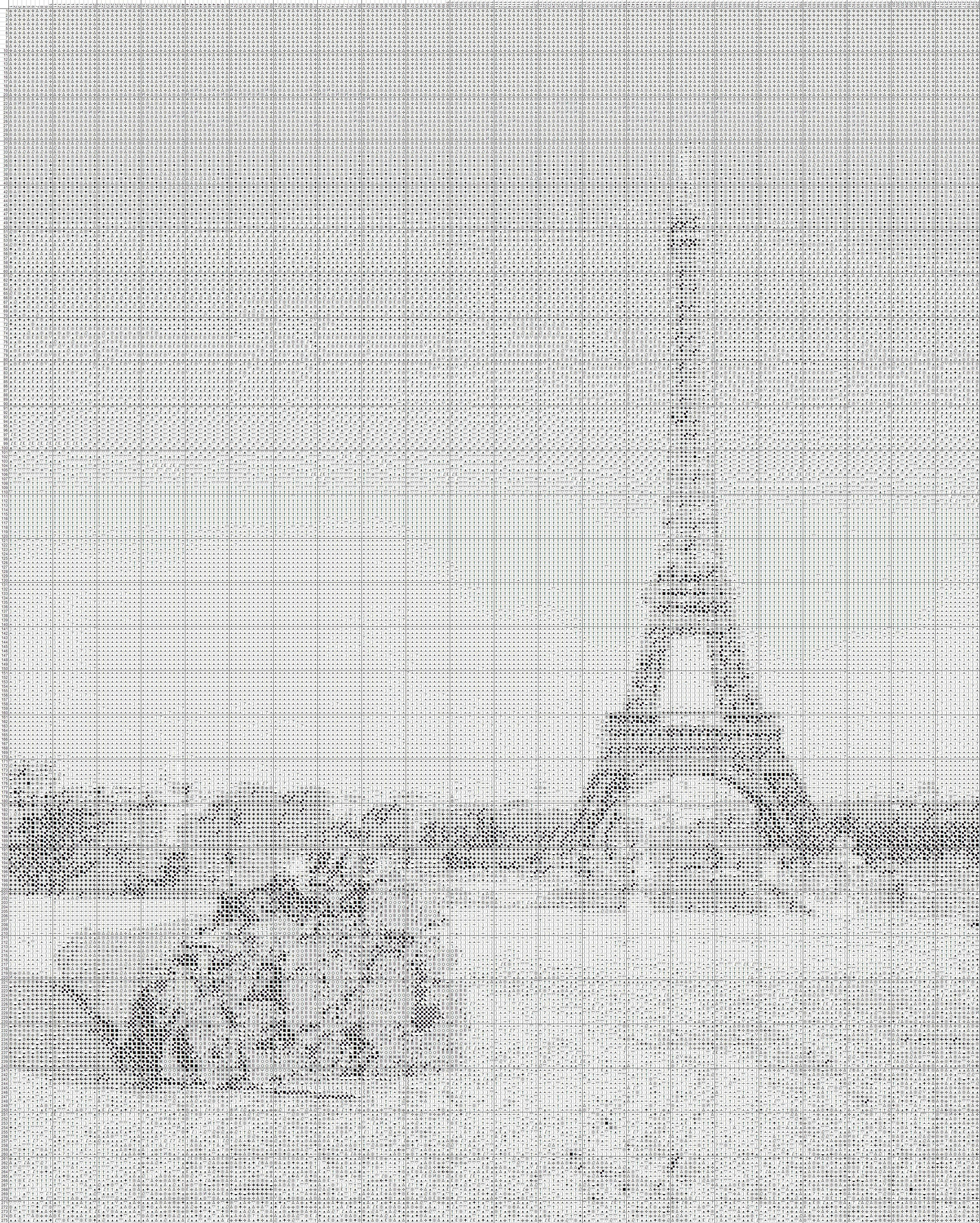 схема вышивки крестом эльфовой башни