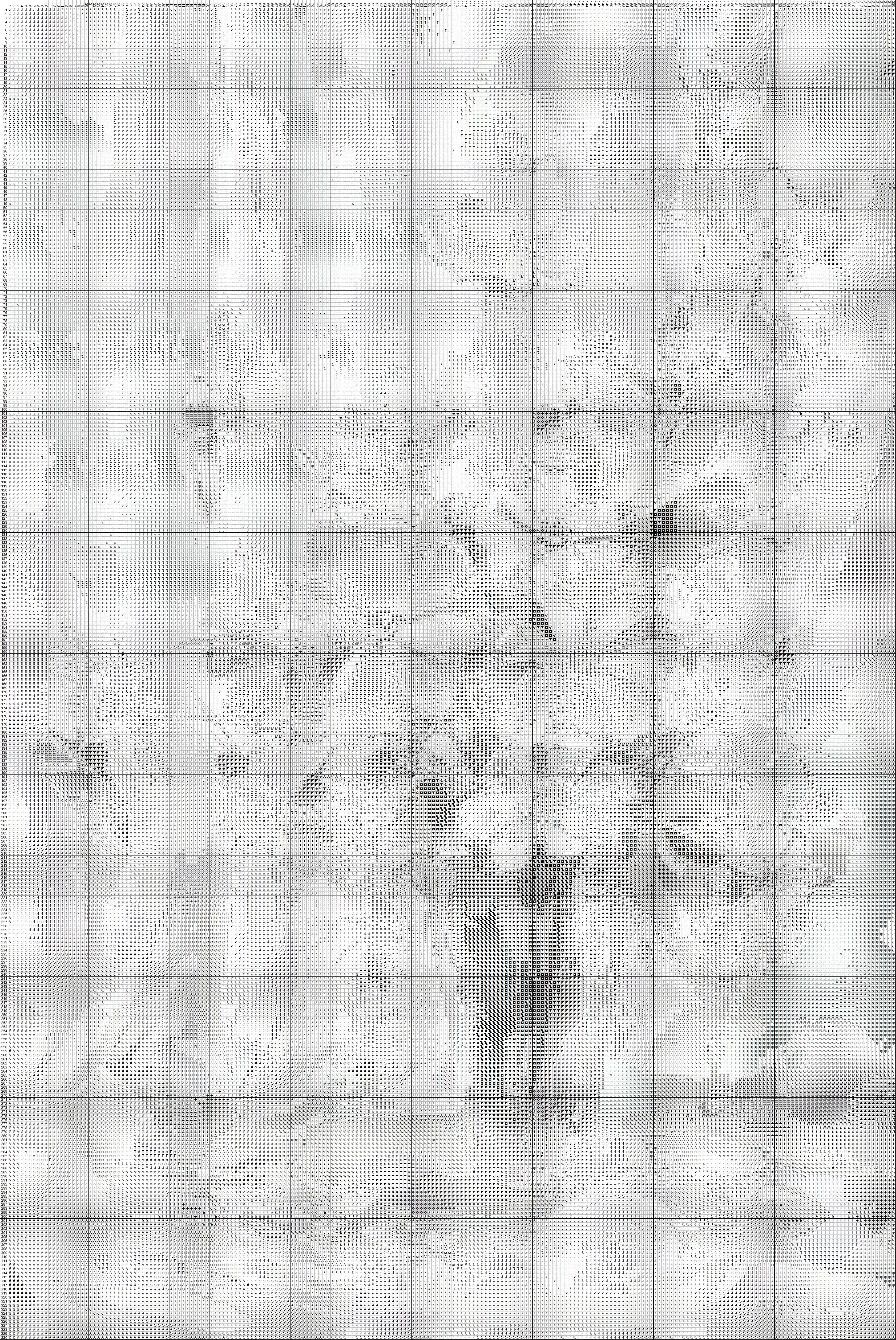 Схема для вышивки  крестом   «Цветы   2 »  60 Х 40