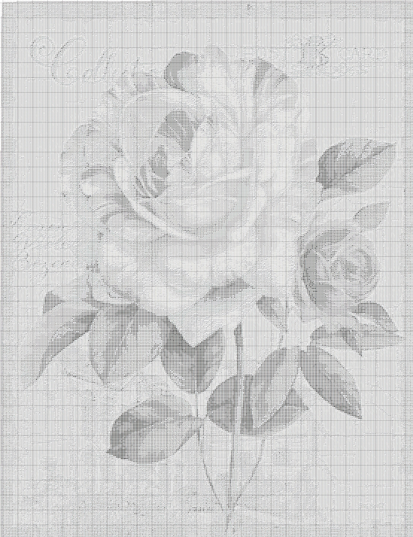 цветок dmc схема