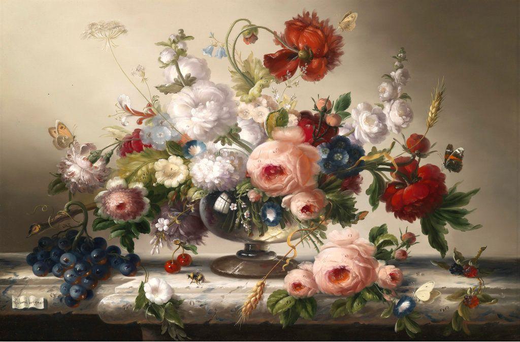 Схема для вышивки крестом «Цветы 6 » 75 Х 50