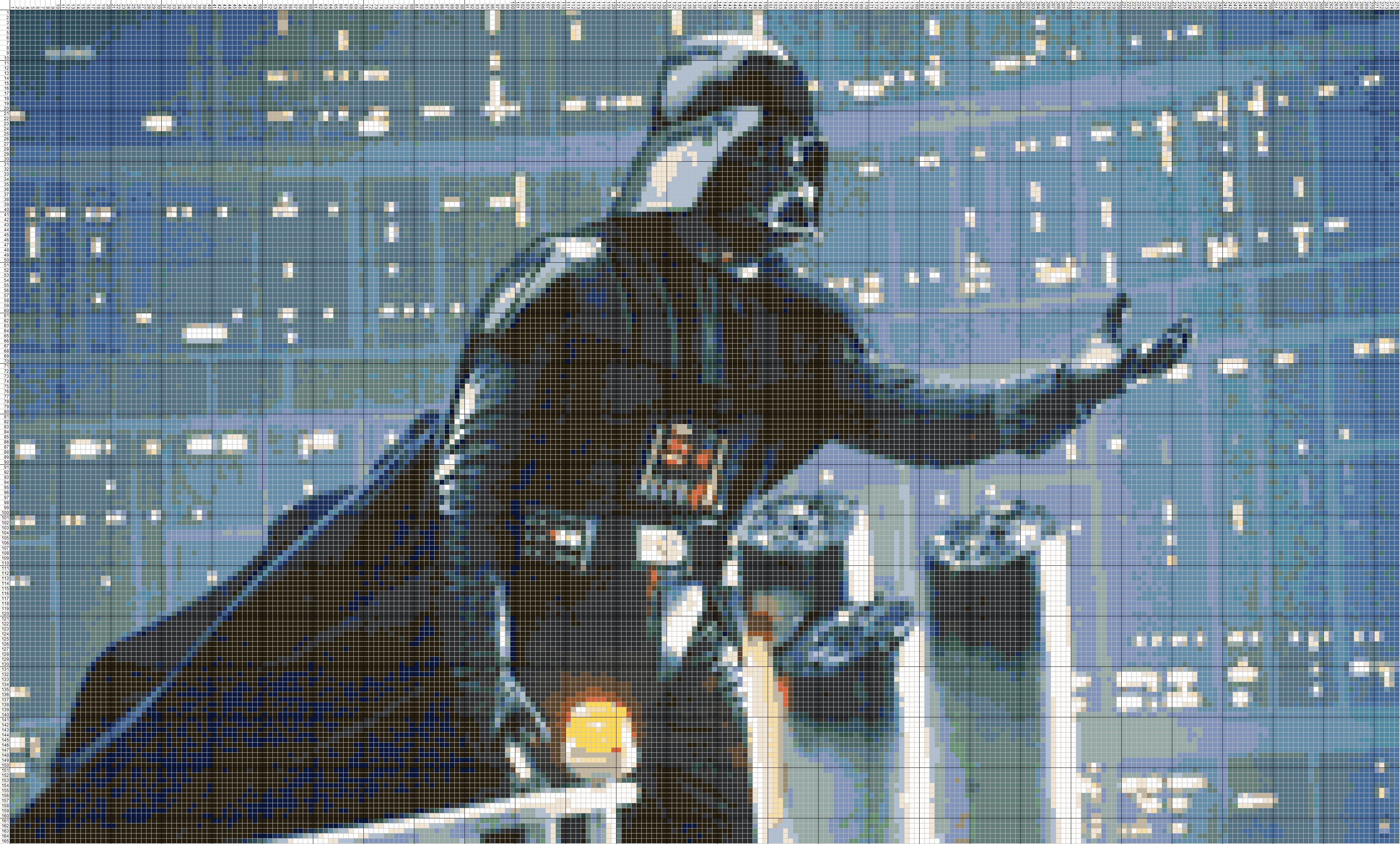 Схема для вышивки крестом «Star Wars» 60 Х 35